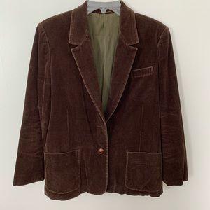 VTG Sears and Roebuck Blazer - corduroy brown sz16